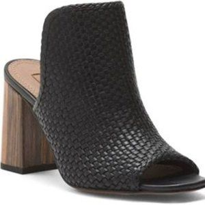 New BCBGMaxAzria Black Mule Block Heel